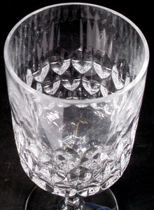 PEILL crystal GRANADA pattern CLARET WINE GOBLET or GLASS 6-3/8""