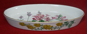 SPODE china STAFFORD FLOWERS Oval Baker - Oven to Table - 12-5/8""