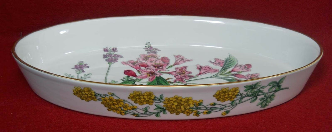 SPODE china STAFFORD FLOWERS Oval Baker - Oven to Table - 12-5/8