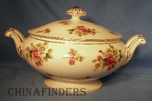 GRACE china APPLE BLOSSOM pattern Round Covered Vegetable Serving Bowl