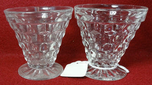FOSTORIA crystal AMERICAN 2056 pattern #003 - 2 Oyster Fruit Cocktails 2-7/8""