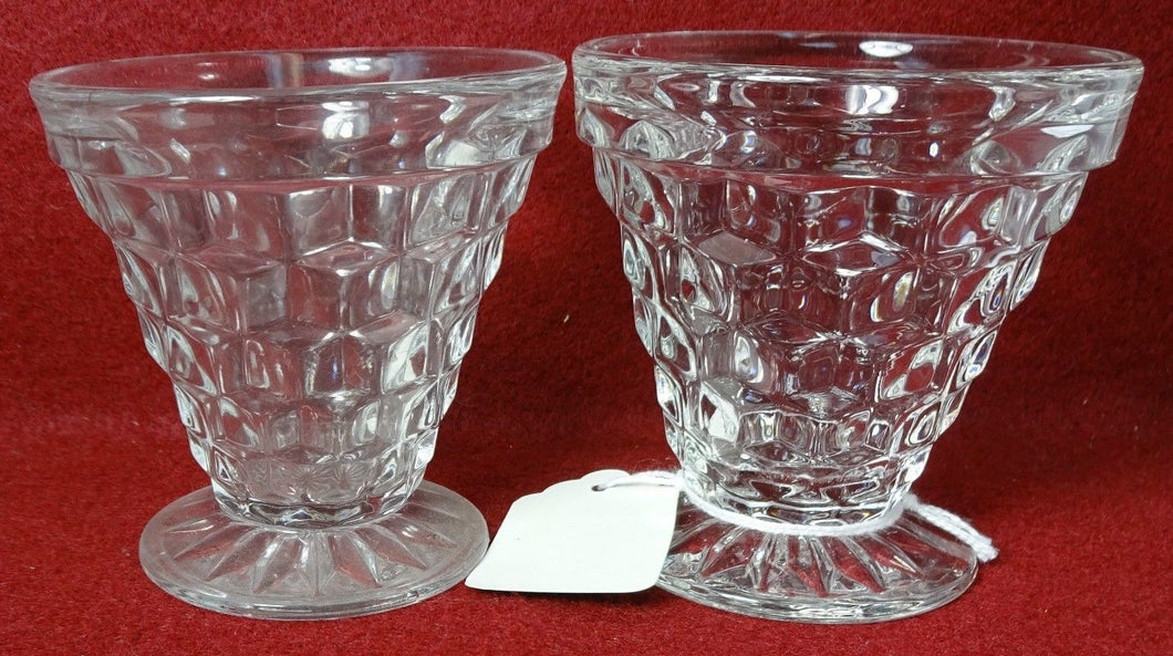 FOSTORIA crystal AMERICAN 2056 pattern #003 - 2 Oyster Fruit Cocktails 2-7/8