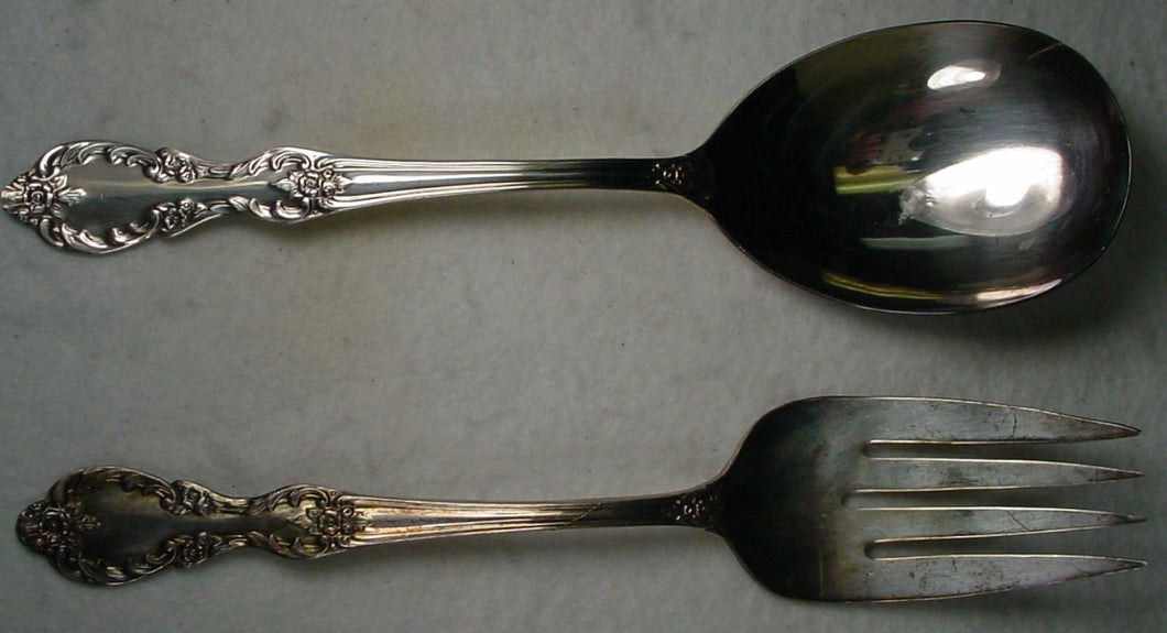 INTERNATIONAL Silver GRAND ELEGANCE 1959 silverplate CASSEROLE SPOON Meat Fork