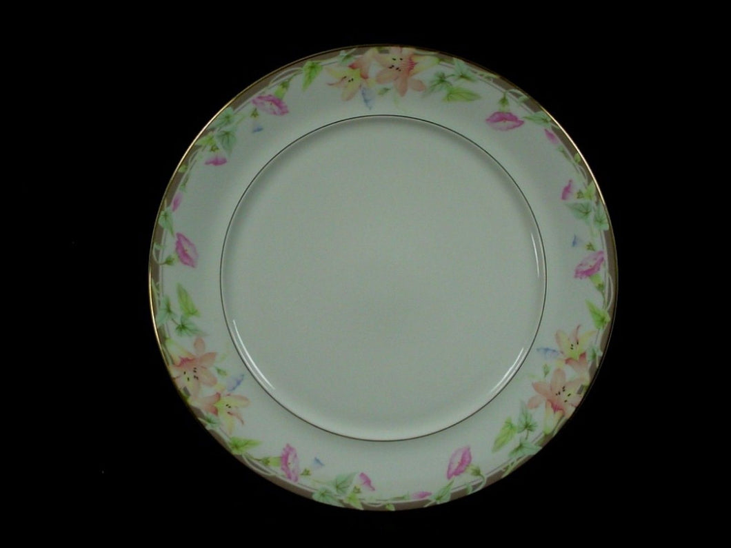 MIKASA china MORNING GLORY L6220 pattern Dinner Plate @ 10 3/4