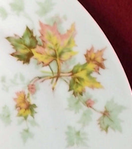 "HAVILAND china AUTUMN LEAF France DINNER PLATE Set of Two (2) - 9-3/4"" - No Trim"