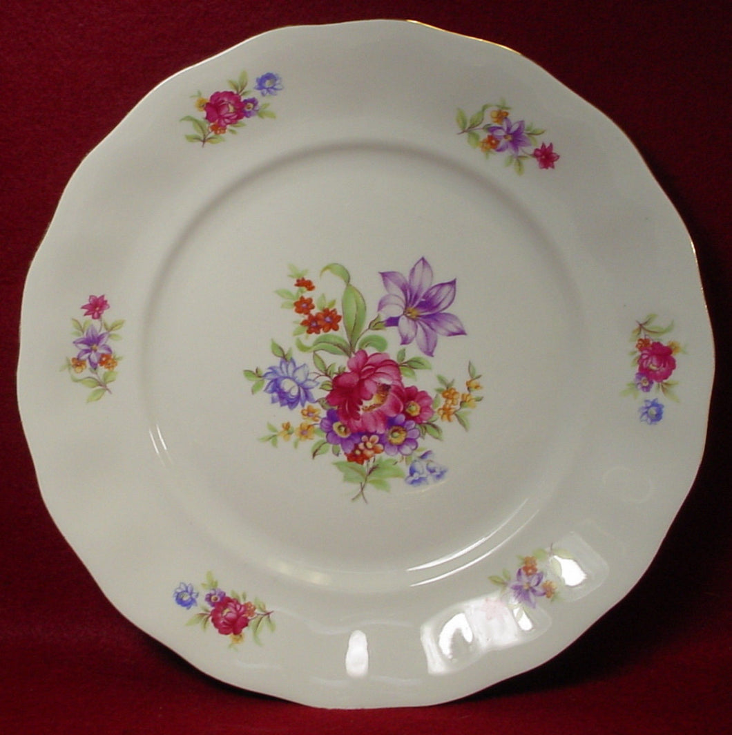 FAVOLINA china FLORAL BOUQUET fav7 pattern DINNER PLATE 10-3/8