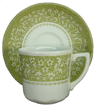 "J&G MEAKIN china Sherwood Green CUP & SAUCER Set 3"" Cup"