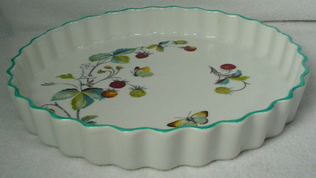 ROYAL WORCESTER china STRAWBERRY FAIR oven-to-table QUICHE 10