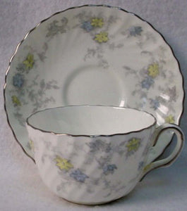 MINTON china PARK LANE S736 pattern CUP & SAUCER Set