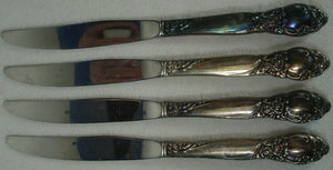 ONEIDA Silver BALLAD / COUNTRY LANE silverplate KNIFE Set of 4 Modern Blade 9""