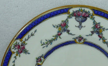 ROYAL WORCESTER china ROSEMARY DARK BLUE pattern Rim Soup or Salad Bowl @ 8""