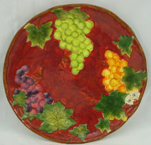 "CERTIFIED INT CORP china VINEYARD pattern DINNER PLATE 10-3/4"" red Susan Winget"