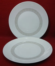 ROSENTHAL china ATHENIA or GREEK KEY taupe SALAD PLATE - Set of Two (2) - 7-5/8""