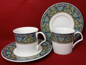 MIKASA china SAN MARCO DX006 pattern Cup & Saucer - Set of Two (2) - 2-7/8""