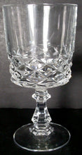 CRISTAL D'ARQUES Durand crystal DIAMOND pattern WINE GLASS 5-1/4""