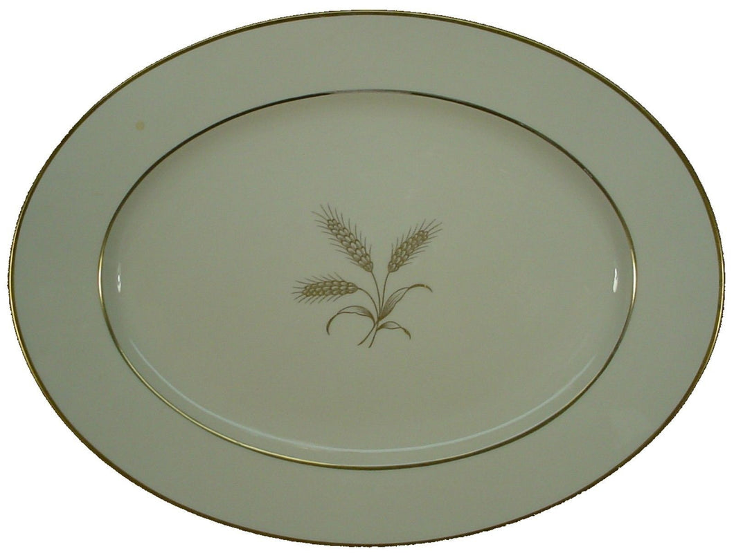 ROSENTHAL china 5176 GOLDEN WHEAT pattern OVAL MEAT Serving PLATTER 14-3/4