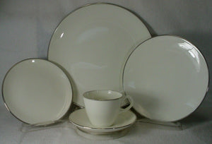 WEDGWOOD china DORIC PLATINUM W4212 pattern 5-piece PLACE SETTING