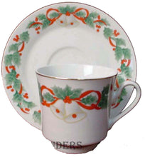 SANGO china NOEL pattern 8401 CUP & SAUCER SET