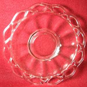 ANCHOR Hocking OPEN LACE EDGE Clear Mayonaisse Underplate