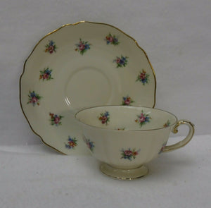 FRANCONIA Krautheim china SCATTERED FLOWERS #8412 6 Cups 6 Saucer 6 Salad Plates