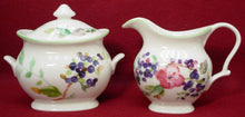 CHARTER CLUB china WILD FLOWERS pattern CREAMER and SUGAR BOWL Set