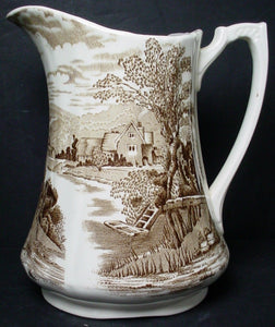 ALFRED MEAKIN china TINTERN light brown 36 OZ. PITCHER or JUG 6-7/8""