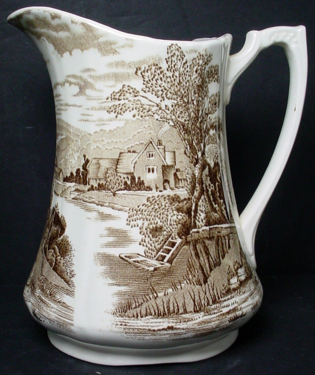 ALFRED MEAKIN china TINTERN light brown 36 OZ. PITCHER or JUG 6-7/8