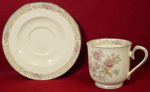 NORITAKE china IMPERIAL GARDEN 9720 pattern Cup & Saucer