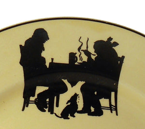 CROOKSVILLE china SILHOUETTE pattern Set of Three (3) Saucers