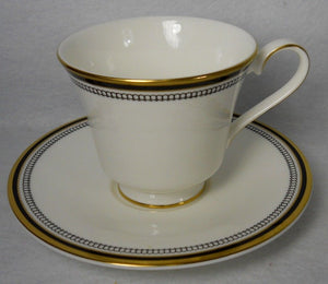 ROYAL DOULTON china PAVANNE H5095 pattern CUP SAUCER Set