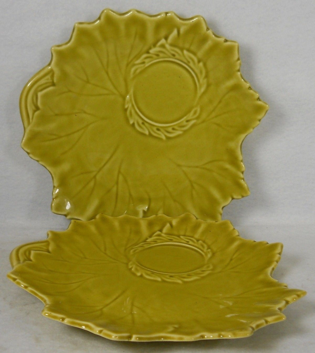 STEUBENVILLE china WOODFIELD Golden Fawn Set of Two (2) Snack Plates - 9