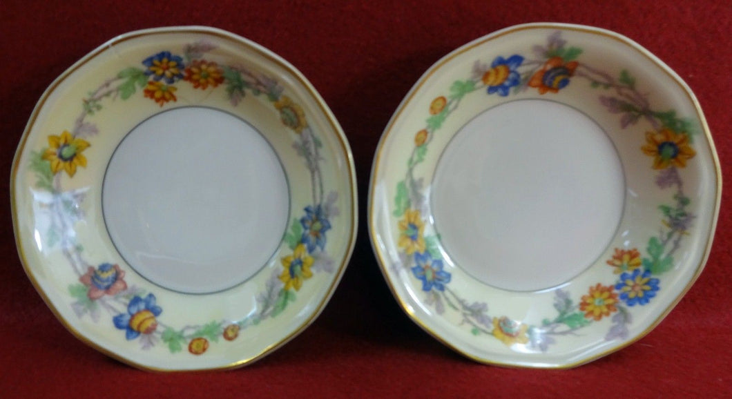 HAVILAND china MIAMI cream Fruit Dessert or Berry Bowl - Set of Two (2) - 5-1/8