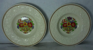 WEDGWOOD china WINDERMERE AK7868 pattern Set of 2 Rim Soup Salad Bowls - 8-1/2""