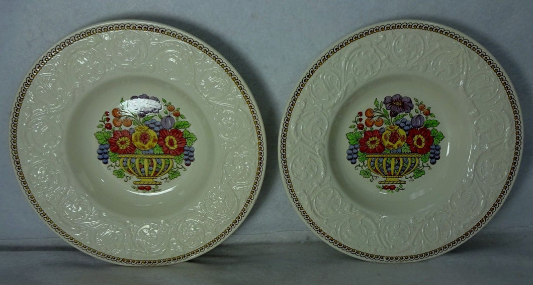 WEDGWOOD china WINDERMERE AK7868 pattern Set of 2 Rim Soup Salad Bowls - 8-1/2