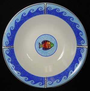 SANGO china PISCES pattern 4896 Soup or Dessert Bowl - 7-3/4""