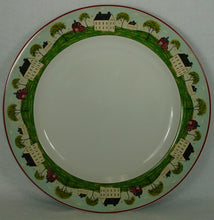 SAKURA china COUNTRY LIFE pattern Set of 7 DINNER PLATES - 11""