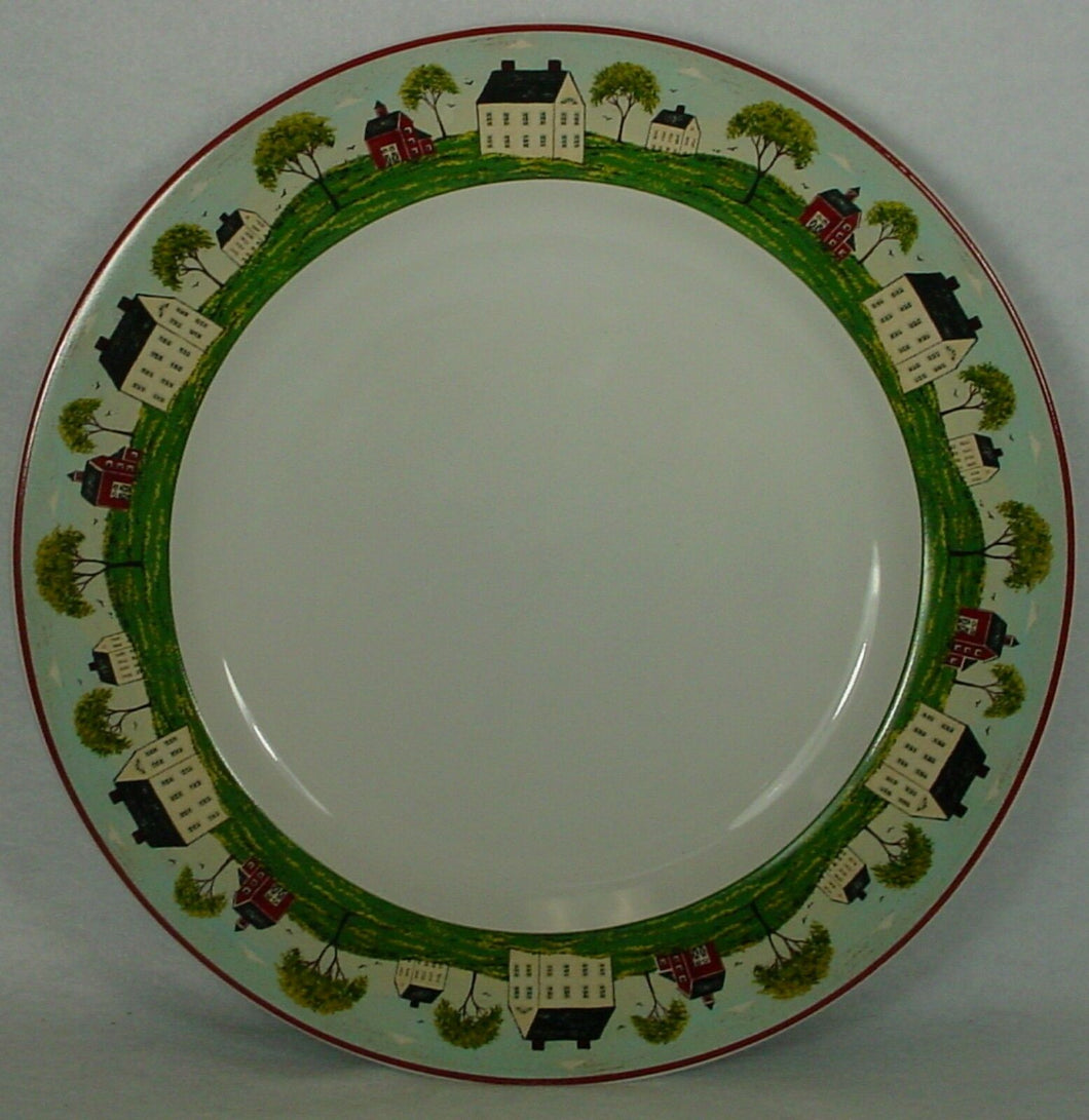 SAKURA china COUNTRY LIFE pattern Set of 7 DINNER PLATES - 11