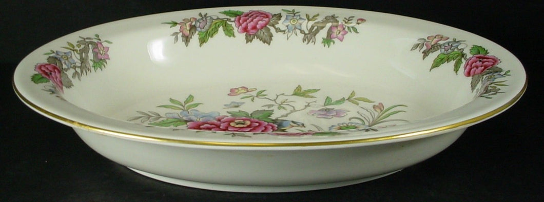 WEDGWOOD china CATHAY W4053 pattern OVAL VEGETABLE Serving BOWL 9-7/8