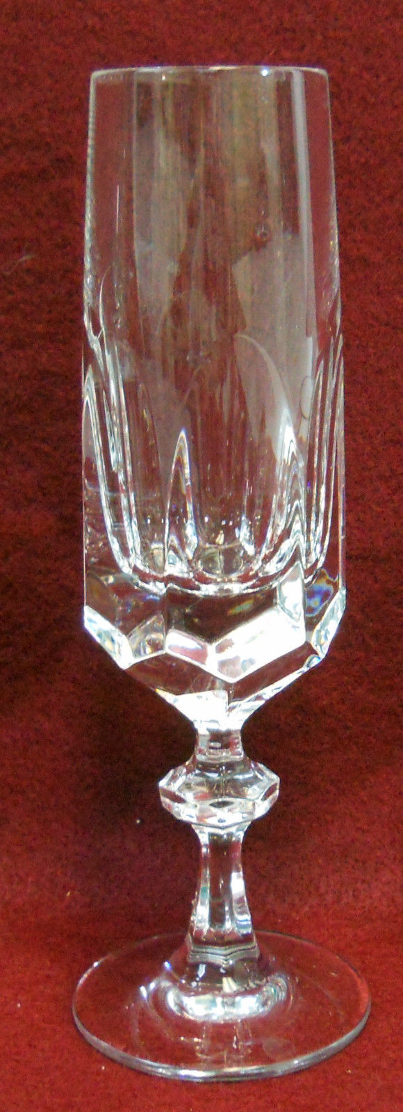 GORHAM crystal ALEXANDRA Fluted Champagne Glass or Goblet - 7-1/2