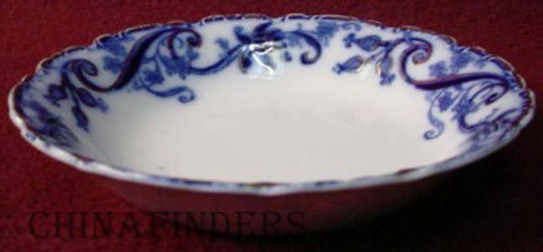 JOHNSON BROTHERS china ANDORRA flow blue FRUIT dessert sauce BERRY BOWL 5-1/8