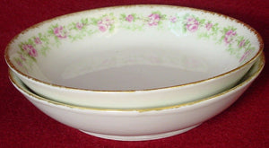 "CHARLES FIELD HAVILAND china CHF1967 pattern FRUIT BERRY BOWL 5"" set of TWO (2)"