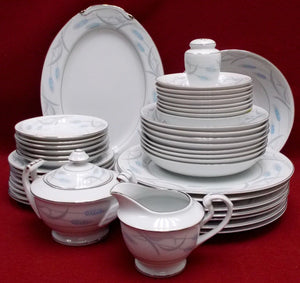 VALMONT china ROYAL WHEAT pattern 36 Piece Set/Lot - dinner/bread/fruit/soup