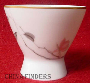 ROSENTHAL china JAPANESE QUINCE gold MINI OPEN SUGAR
