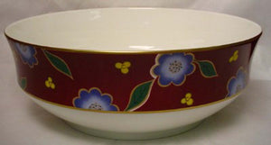 MIKASA china TEA CEREMONY PERSIAN RED A6102 pattern Rd Vegetable Bowl @ 9 1/8""