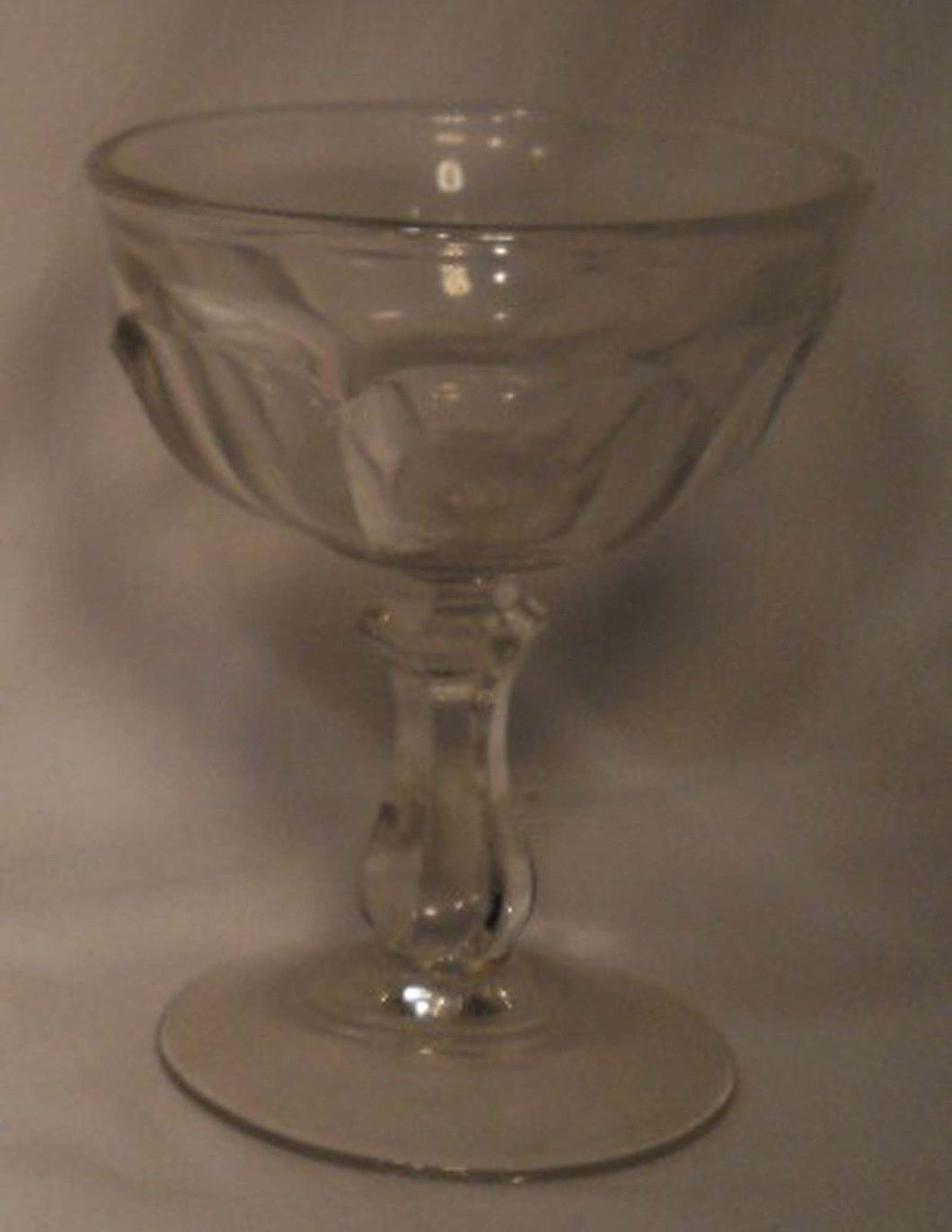 IMPERIAL glass OLD WILLIAMSBURG Clear pattern CHAMPAGNE / TALL SHERBET
