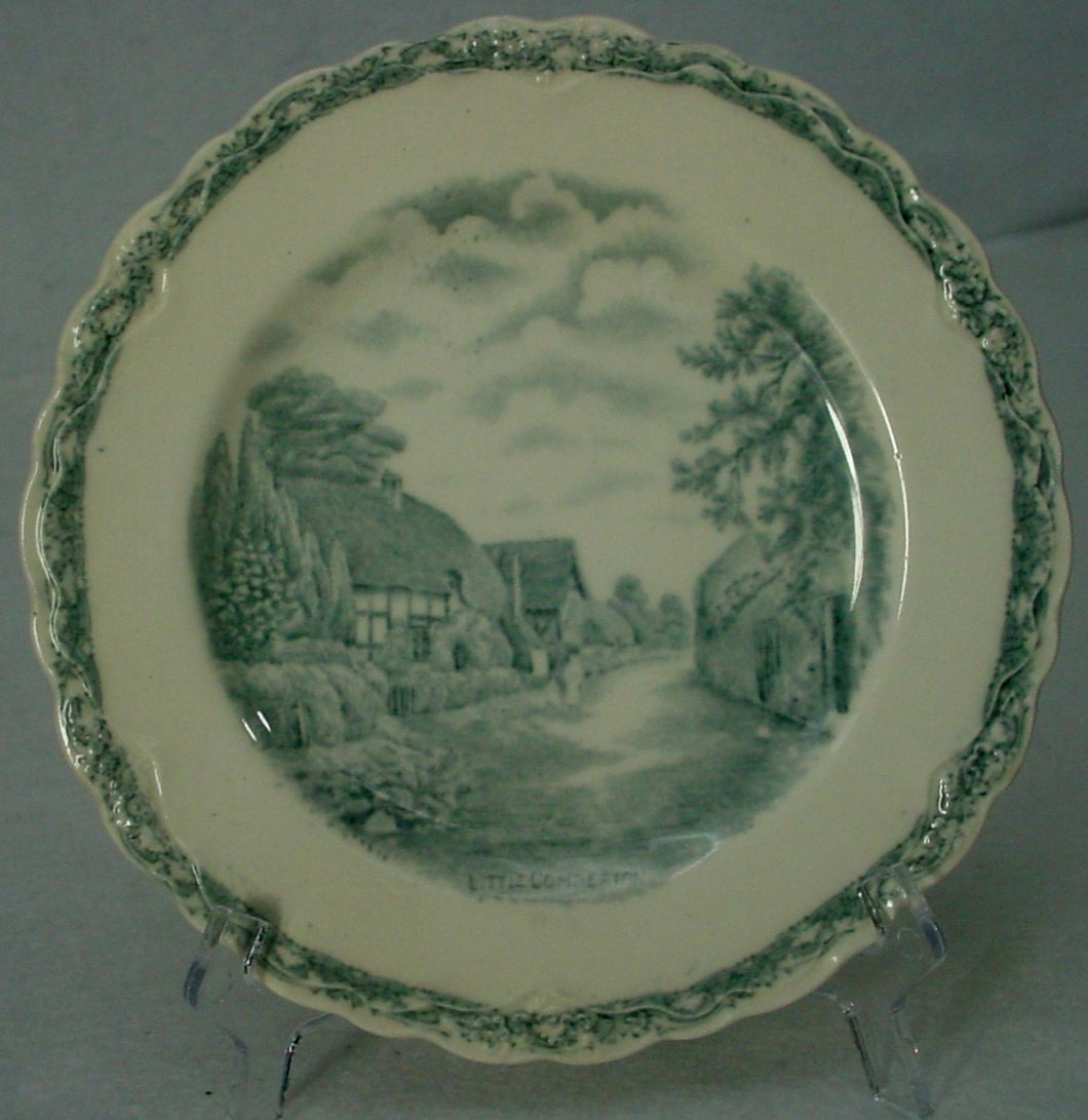 OLD HALL china COUNTRY SIDE GRAY pattern BREAD PLATE 5-3/4
