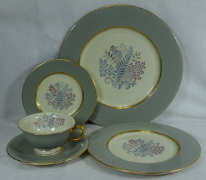CASTLETON china FERNMERE pattern 5-piece Place Setting cup saucer dinner salad