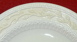 SIGNATURE china LOURDES Set of 2 Round Luncheon, Salad or Dessert Plates 8-7/8""""