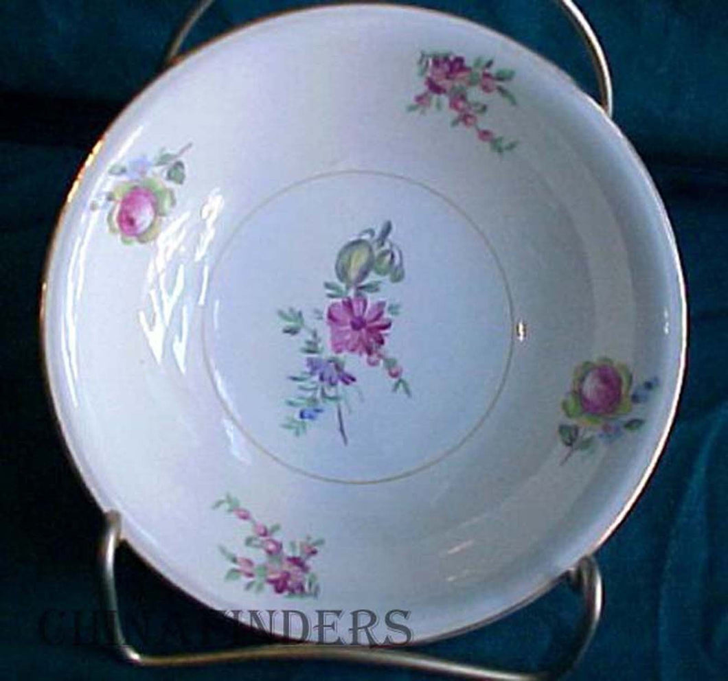 HOUSEHOLD INSTITUTE china PRISCILLA-CREAM & WHITE pattern Fruit Bowl @ 5-1/4