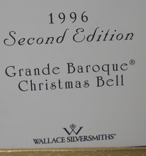 WALLACE Silver BELL Silverplate GRANDE BAROQUE Christmas Ornament 1996